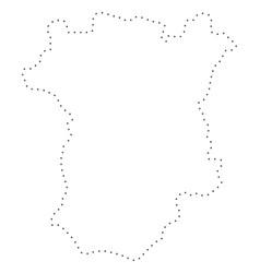 Dot stroke chechnya map vector