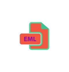 EML Icon vector image