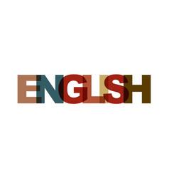 english phrase overlap color no transparency vector image