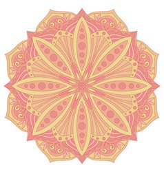 Ethnic decorative design element Colorful mandala vector image