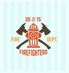 Fire department emblem with fire hydrant vector