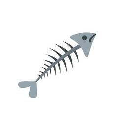fish bone icon flat style vector image