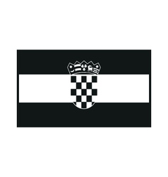 Flag of Croatia monochrome on white background vector