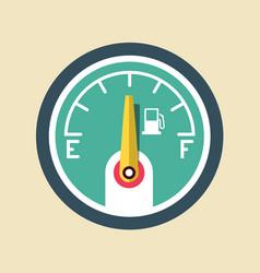fuel icon gasoline dashboard symbol vector image