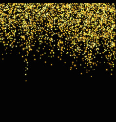 Gold glitter falling stars abstract vector