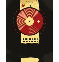 Grunge musical poster vector