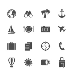 Holidays vacation pictograms collection vector image