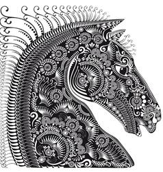 Horses head black vector