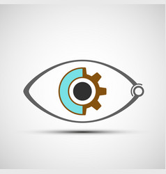icon mechanical eye vector image