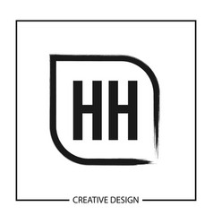 Initial letter hh logo template design vector