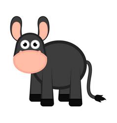 isolated donkey comic cartoon vector image