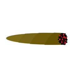 Joint spliff marijuana cannabis cigarette drugs vector
