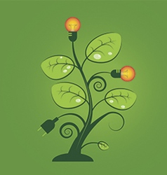Lamp Tree vector image