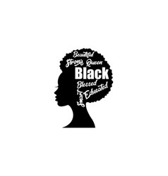 Layered afro woman earrings vector