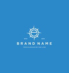 Letter e compass logo design vector