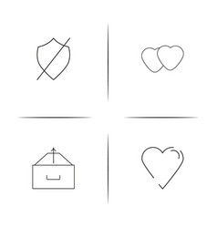 Lifestyle simple linear icons set outlined icons vector