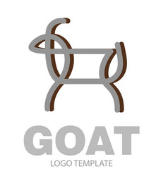 linear stylized drawing goat or nanny vector image vector image