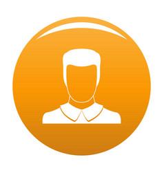 Male avatar icon orange vector