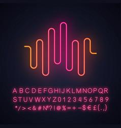 Music rhythm wave neon light icon disco party dj vector