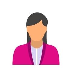 New girl avatar icon vector