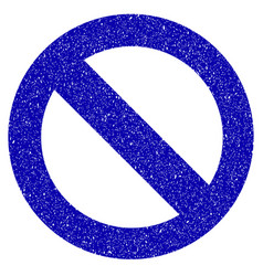 no sign icon grunge watermark vector image