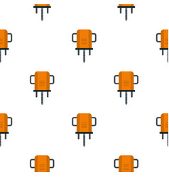 Orange boer drill pattern flat vector