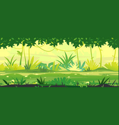 path through jungle vector image