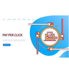 pay per click online order web computer vector image