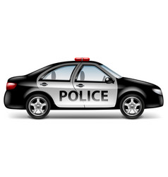 police car profile isolated on white vector image