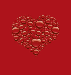 red drop heart shape - love symbol vector image
