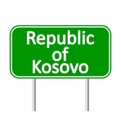 Republic of Kosovo road sign vector