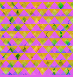 retro pink triangle seamless texture vector image