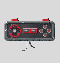 retro style gamepad videogame joystick realistic vector image