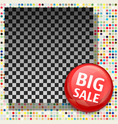 Sale banner template with empty space for product vector