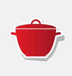 saucepan simple sign new year reddish vector image
