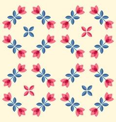 Scandinavian flowers - semaless tulips pattern vector