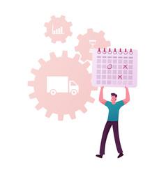 scm supply chain management procurement process vector image