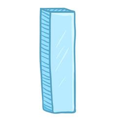 Single cartoon - ice blue letter i vector