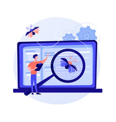 Software testing concept metaphor vector