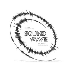 Sound wave spiral form vector