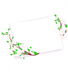 spring template vector image