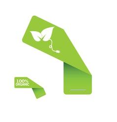 sticker organic green vector image