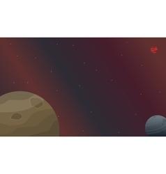 The planet space landscape vector