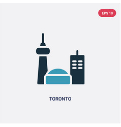 two color toronto icon from travel concept vector image