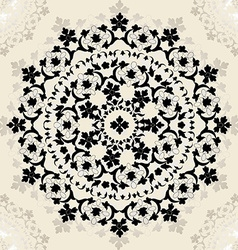 Victorian style decorative circle design vector image