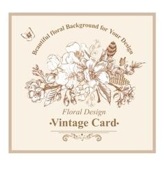 vintage garden spring greeting card vector image