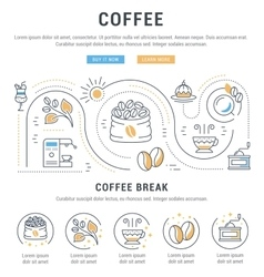 Website Banner and Landing Page Coffee vector image