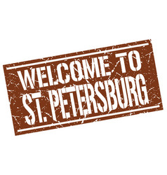 Welcome to st petersburg stamp vector