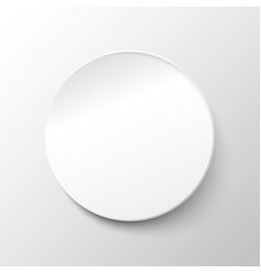 white paper circle background vector image