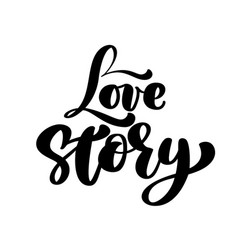 Words love story inspirational isolated vector
